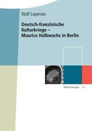 Deutsch-französische Kulturkriege – Maurice Halbwachs ... - SSOAR