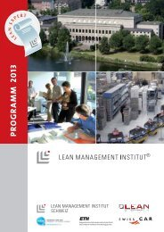 Seminarprogramm 2013. - Lean Management Institut