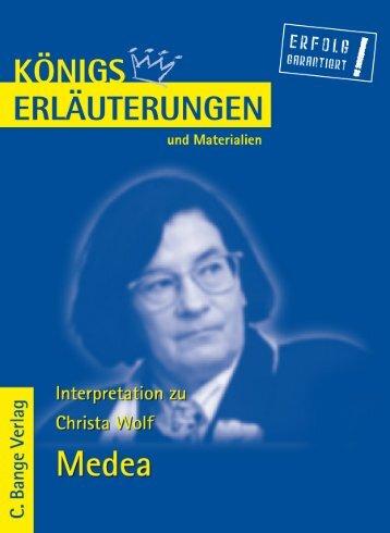 Erläuterungen zu Christa Wolf, Medea - Die Onleihe