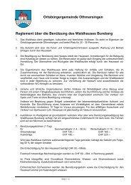 Ortsbürgergemeinde Othmarsingen Reglement über die Benützung ...
