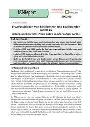 IAT-Report 2002-06 als PDF - beim Institut Arbeit und Technik