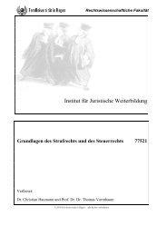 Grundlagen des Strafrechts und des Steuerrechts - Institut für ...