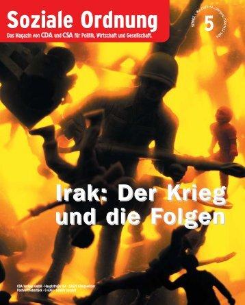 Soziale Ordnung - CDA Deutschlands