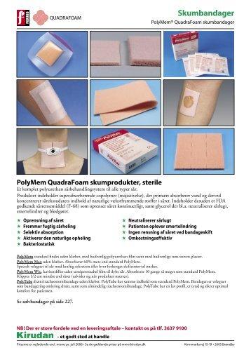 PolyMem Shapes QuadraFoam skumbandager, steril - Kvalicare