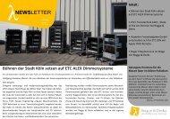 NEWSLETTER - Rogge & Derks Veranstaltungstechnik