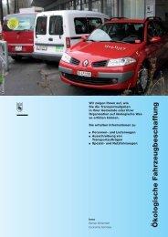 Ökologische Fahrzeugbeschaffung