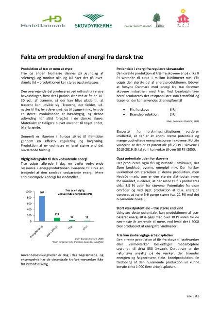 Fakta om produktion af energi fra dansk træ - HedeDanmark