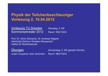 Skript zur Vorlesung 2 - Helmholtz-Zentrum Dresden-Rossendorf