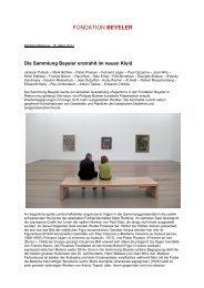 Download Pressetext PDF (141 KB) - Fondation Beyeler