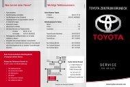 TOYOTA ZENTRUM BRUNECK S E R V I C E - Toyota Bruneck