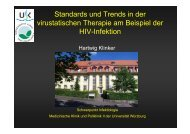 Standards und Trends in der virustatischen Therapie am Beispiel ...