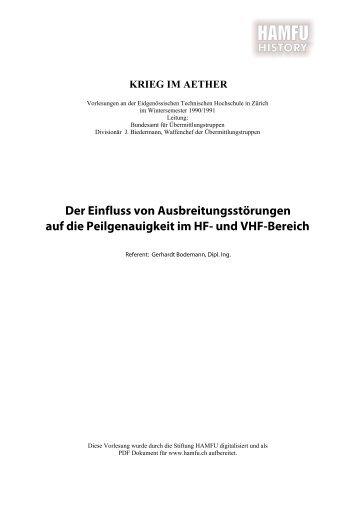 Der Einfluss von Ausbreitungsstörungen auf die ... - Stiftung HAMFU