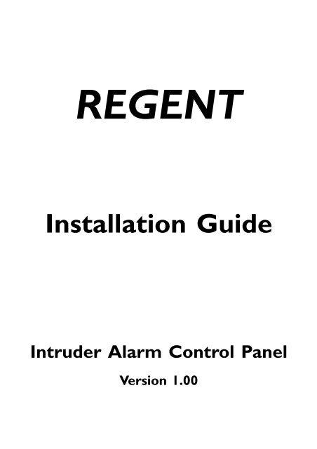 Regent_Engineer_Manual pdf 375KB - The Security Network