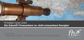 Die Zukunft? Erneuerbare vs. nicht erneuerbare ... - FH Kufstein Tirol