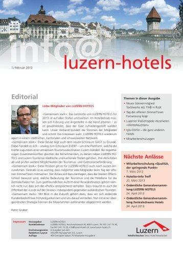 Newsletter 01/13 - Luzern Hotels