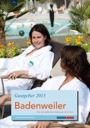 Badenweiler Gastgeberverzeichnis 2013