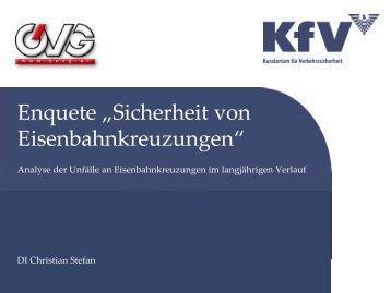 Unfälle an Eisenbahnkreuzungen im langjährigen Verlauf ... - KfV
