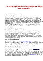 10 entscheidende Informationen über ... - Feuerwehr Eupen
