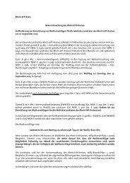 Aufforderung zur Einreichung von Wahlvorschlägen - Rhein-Erft-Kreis