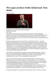 Wer Gauck wählt - spiegelt seine wahre Gesinnung wider!