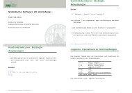 Kontrollstrukturen und Funktionen - Institut für Statistik - Ludwig ...