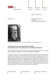 Rundbrief 167 - Stab - Stiftung für Abendländische Ethik und Kultur