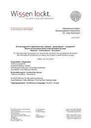Programm - Academia Baltica