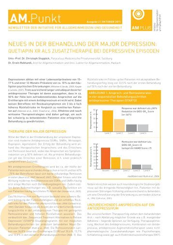 neues in der behandlung der major depression - AM Plus