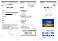 Flyer Sprachkurse 2013 - deuko
