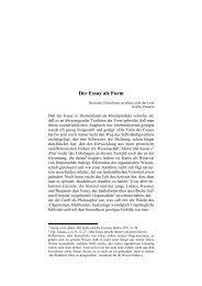 Der Essay als Form