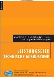Unverbindliche Kalkulationsempfehlung Leistungsbild Technische ...