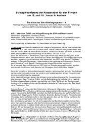 Text als PDF - Kooperation für den Frieden