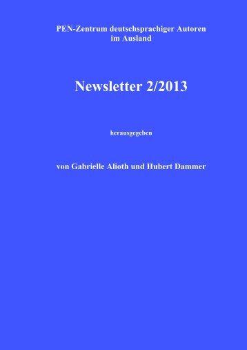 PEN-Newsletter - PEN Zentrum deutschsprachiger Autoren im ...