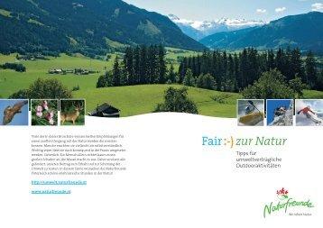 """Fair zur Natur"", Broschüre zum Downloaden! - Naturfreunde"