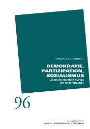 Demokratie, PartiziPation, SozialiSmuS - Rosa-Luxemburg-Stiftung