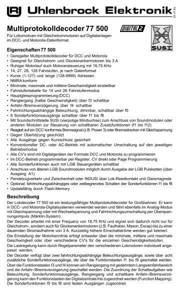 Multiprotokolldecoder 77 500 - Spielshop99.de