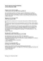 Archiv Senioren-Info SV 20 Brilon Juli bis Dezember 2008