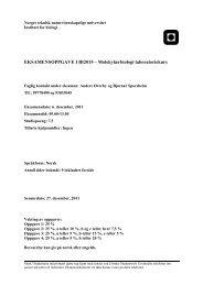EKSAMENSOPPGAVE I BI2015 ... - Institutt for biologi