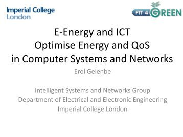 E-Energy and ICT Optimise Energy and QoS in Computer Systems ...
