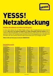 Mobiles Breitband von Wien bis Bregenz. Detailübersicht - Yesss