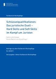 Schlüsselqualifikationen: Das juristische Duell - Hochschule für ...