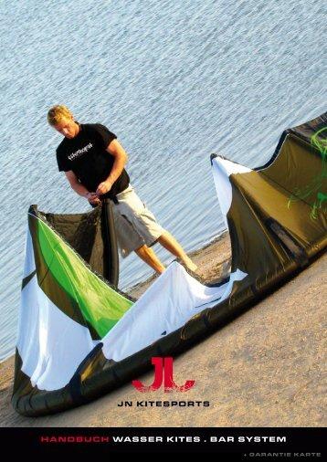 handbuch Wasser kites . bar system - JN Kites