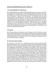 Der Forschungsbericht 2012 - Institut für Nachrichtentechnik