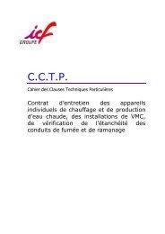 CCTP CHAUDIERES INDIVIDUELLES TOULOUSE - ICF Habitat