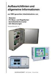EMV-gerechten Kabeldurchführung - Kolter Electronic