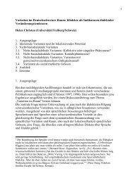 Variation im Deutschschweizer Raum: Idiolekte als Indikatoren ...