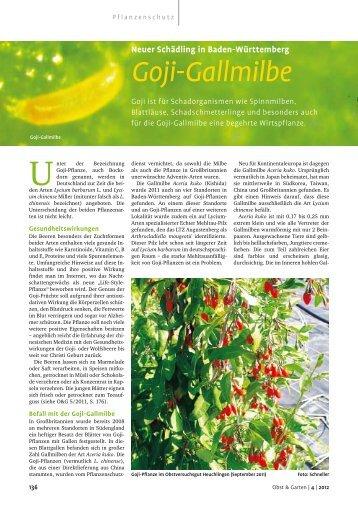 Goji-Gallmilbe - Bio-Goji Pflanze L21