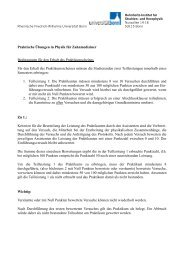 Praktische Übungen in Physik für Zahnmediziner ... - Universität Bonn