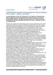 Pressemeldung FTAPI 2012 - Bayern Kapital