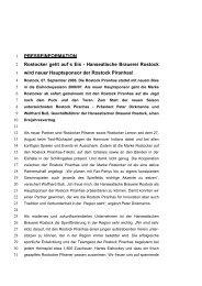 Hanseatische Brauerei Rostock wird neuer Hauptsponsor der ...